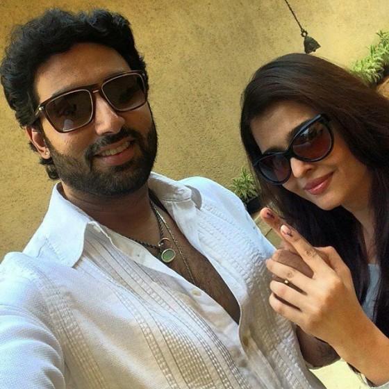 Abhishek & Aishwarya Post Casting Their Vote