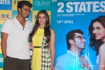 Arjun Kapoor and Alia Bhatt during the promotion of film '2 States' in Kolkata Pic 4