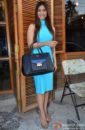 Tanishaa Mukerjee Poses In Blue Dress