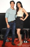 Tiger Shroff and Kriti Sanon during the trailer launch of 'Heropanti'