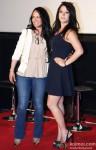 Ayesha Shroff and Krishna Shroff during the trailer launch of 'Heropanti'