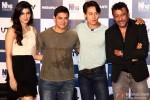 Kriti Sanon, Aamir Khan, Tiger Shroff and Jackie Shroff during the trailer launch of 'Heropanti'