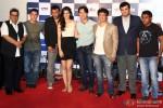 Subhash Ghai, Aamir Khan, Jackie Shroff, Kriti Sanon, Tiger Shroff, Sajid Nadiadwala, Siddharth Roy Kapur and Sabbir Khan during the trailer launch of 'Heropanti'