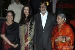 Brindya Rai, Aishwarya Rai Bachchan, Amitabh Bachcha, and Jaya Bachchan during the launch of Rajinikanth's 'Kochadaiiyaan' Hindi trailer