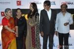 Jaya Bachchan, Brindya Rai, Aishwarya Rai Bachchan and Amitabh Bachchan during the launch of Rajinikanth's 'Kochadaiiyaan' Hindi trailer