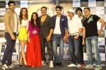 Mohit Marwah, Kiara Advani, Ashvini Yardi, Akshay Kumar, Vijendra Singh, Jimmy Sheirgill, Arfi Lamba and Kabir Sadanand during the trailer launch of film 'Fugly'