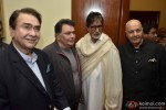 Randhir Kapoor, Rishi Kapoor and Amitabh Bachchan during the launch of Prem Chopra's Autobiography