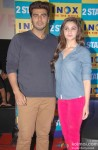Arjun Kapoor and Alia Bhatt during the promotion of film '2 States' in Bangalore Pic 1
