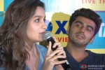 Alia Bhatt and Arjun Kapoor during the promotion of film '2 States' in Bangalore Pic 2