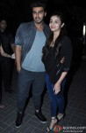 Arjun Kapoor and Alia Bhatt during the promotion of film '2 States' in Thane Pic 1