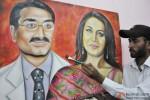 Artist Rubal paints a picture of Rani Mukerji and Aditya Chopra Pic 3