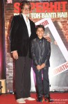 Amitabh Bachchan and Parth Bhalerao during the success bash of 'Bhoothnath Returns'