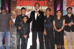 Nitesh Tiwari, Bhushan Kumar, Amitabh Bachchan, Parth Bhalerao, Boman Irani, Usha Jadhav, Krishan Kumar, Renu Ravi Chopra and Kapil Chopra during the success bash of 'Bhoothnath Returns'