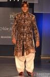 Amitabh Bachchan walks the ramp for Manish Malhotra's Men For Mijwan