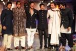 Farhan Akhtar, Amitabh Bachchan, Akshay Kumar, Ranbir Kapoor and Sidharth Malhotra walk the ramp for Manish Malhotra's Men For Mijwan