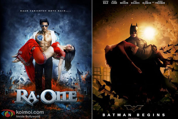 Ra.One and Batman Begins: Eh! Copy Cat Superhero
