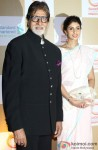 Amitabh Bachchan and Shweta Bachchan at Swades Foundation's Show