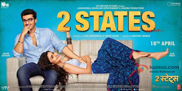 Arjun Kapoor and Alia Bhatt Starrer '2 States' Movie Poster