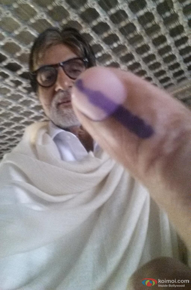 Amitabh Bachchan Post Casting His Vote