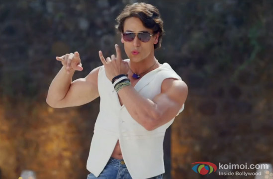 Tiger Shroff in a 'Whistle Baja' song still from movie 'Heropanti'