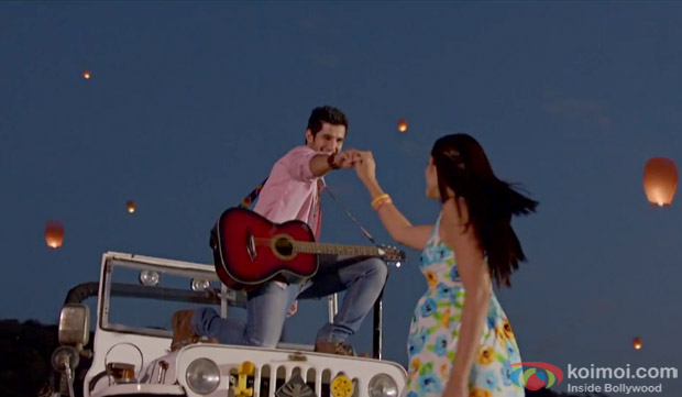 Aditya Seal and Isabelle Liete in a still from movie 'Purani Jeans'