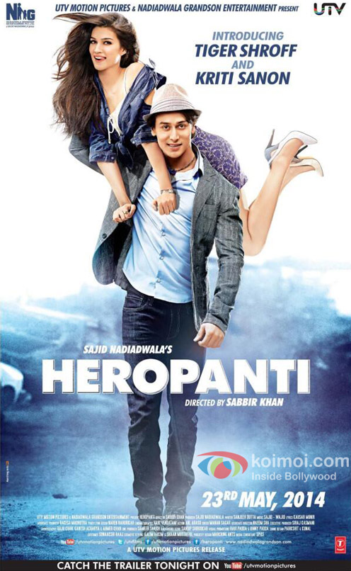 Tiger Shroff and Kriti Sanon starrer 'Heropanti' movie first look poster