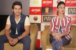 Varun Dhawan and Ileana DCruz during the promotion of film 'Main Tera Hero' in Delhi Pic 1