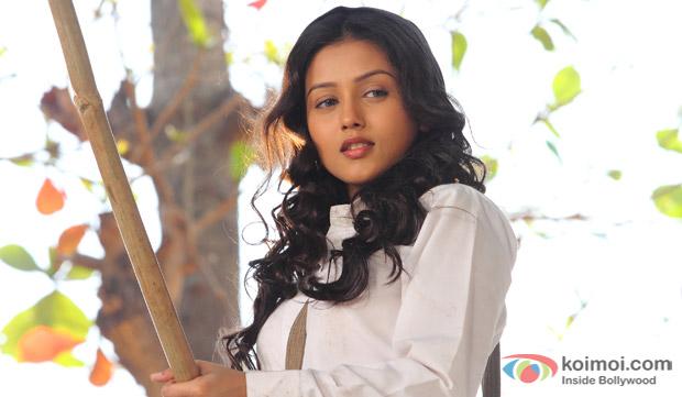 Indrani Chakraborty (Mishti) in a still from movie 'Kaanchi'