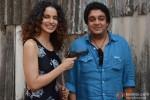 Kangana Ranaut and Sai Kabir Shrivastav promote 'Revolver Rani' in Mumbai Pic 1