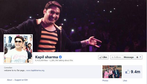 Kapil Sharma's Facebook Likes