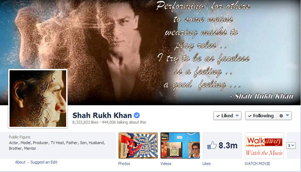 SRK's Facebook Likes