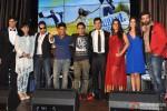 Tanuj Virwani, Tanushri Chattrji Bassu, Mika Singh, Ram Sampath, Aditya Seal, Sona Mohapatra and Izabelle Leite during the music launch of 'Purani Jeans