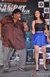 Ganesh Acharya and Madalasa Sharma during the music launch of 'Samrat & Co.'