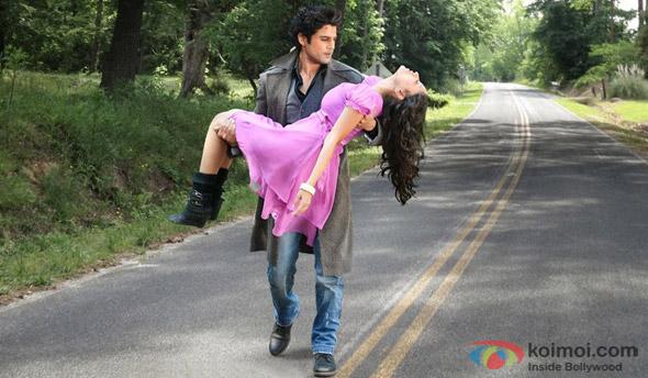 Rajeev Khandelwal and Madalasa Sharma in a still from movie 'Samrat & Co.'