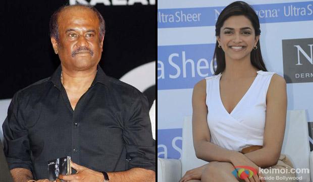Rajnikanth and Deepika Padukone