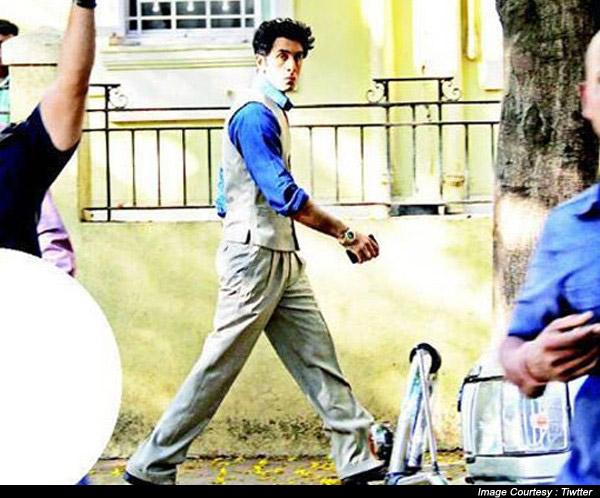 Ranbir Kapoor on the set of movie Bombay Velvet