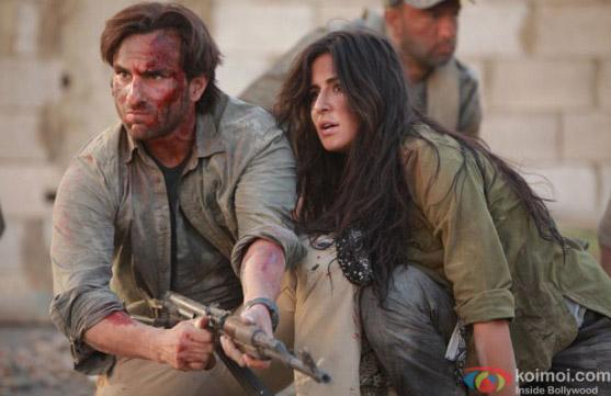 Saif Ali Khan and Katrina Kaif in a still from movie 'Phantom'