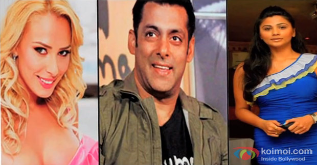 Lulia Vantur, Salman Khan and Daisy Shah