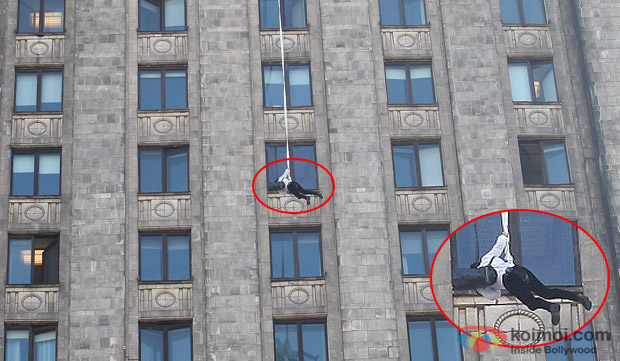 Salman Khan Hanging From The 40th Floor For 'Kick'