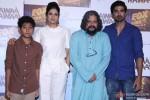 Partho Gupte, Sridevi, Amole Gupte and Saqib Saleem during the trailer launch of 'Hawaa Hawaai'