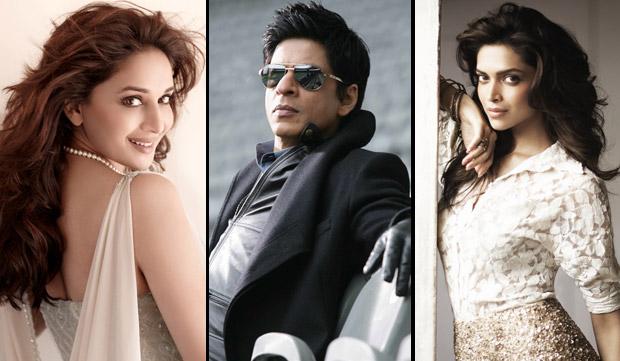 Madhuri Dixit, Shah Rukh Khan and Deepika Padukone