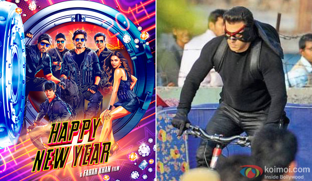 'Happy New Year' Movie Poster and Salman Khan on set of 'Kick'