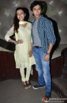 Yaushika Verma and Anshuman Jha during the promotion of 'Yeh Hai Bakrapur' film's music