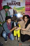 Asif Basra and Yaushika Verma. Anshuman Jha during the promotion of 'Yeh Hai Bakrapur' film's music