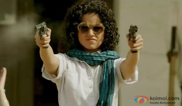 Kangana Ranaut in a still from movie 'Revolver Rani'