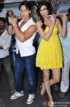 Tiger Shroff and Kriti Sanon during the launch of first song from film 'Heropanti' Pic 1