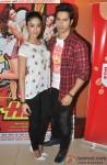 Ileana DCruz and Varun Dhawan during the promotion of film 'Main Tera Hero' Pic 1