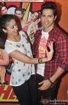 Ileana DCruz and Varun Dhawan during the promotion of film 'Main Tera Hero' Pic 2