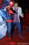 Vivek Oberoi meets Spiderman in Mumbai Pic 2