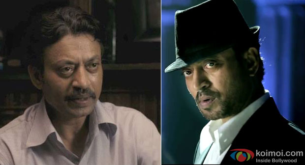 Irrfan Khan in a still from movie 'The Lunchbox' and 'The Xpose'